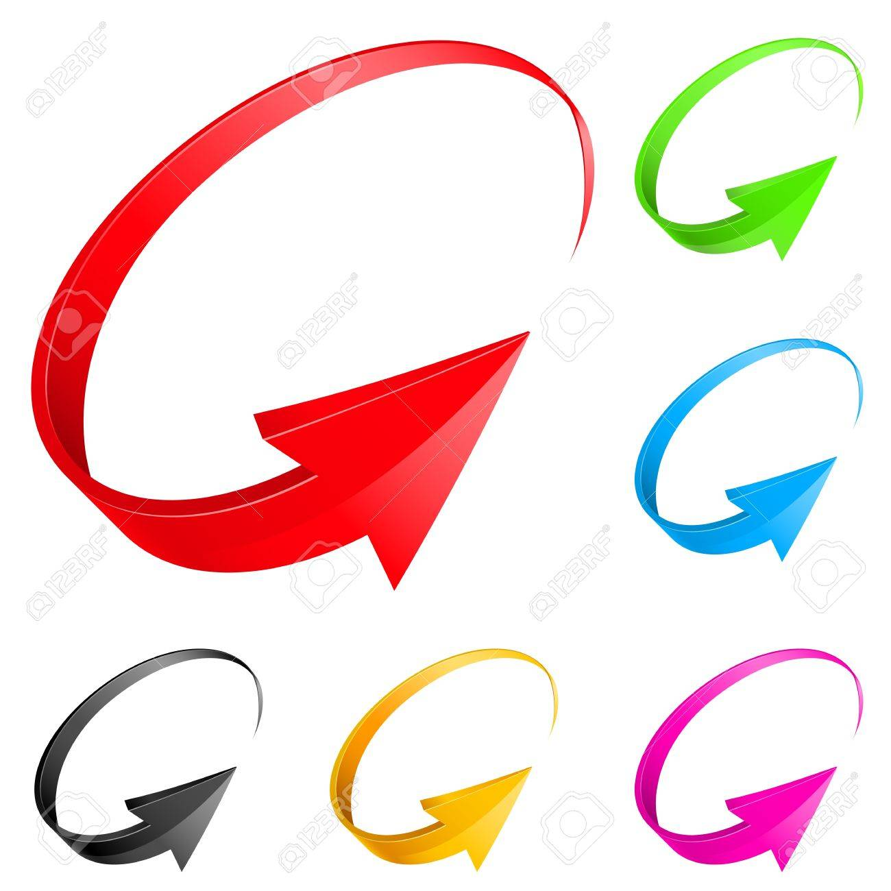 Colorful arrows. Illustration for design on white background Stock Vector - 14331337