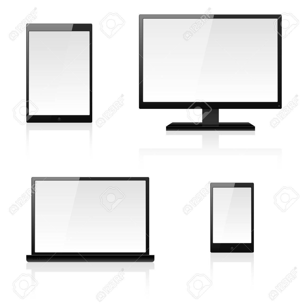 Digital devices. Illustration for design on white background Stock Vector - 14413903