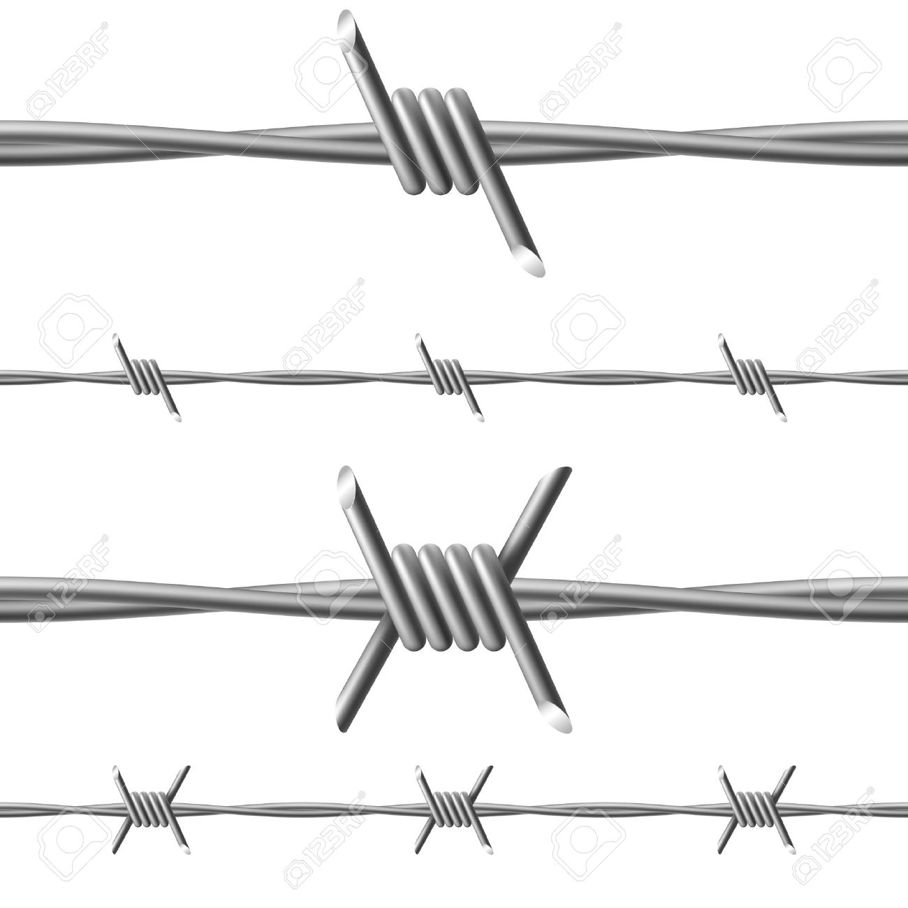 Barbed wire vector brush - Barbed Wire Illustration On White Background For Design Stock Vector 14447600