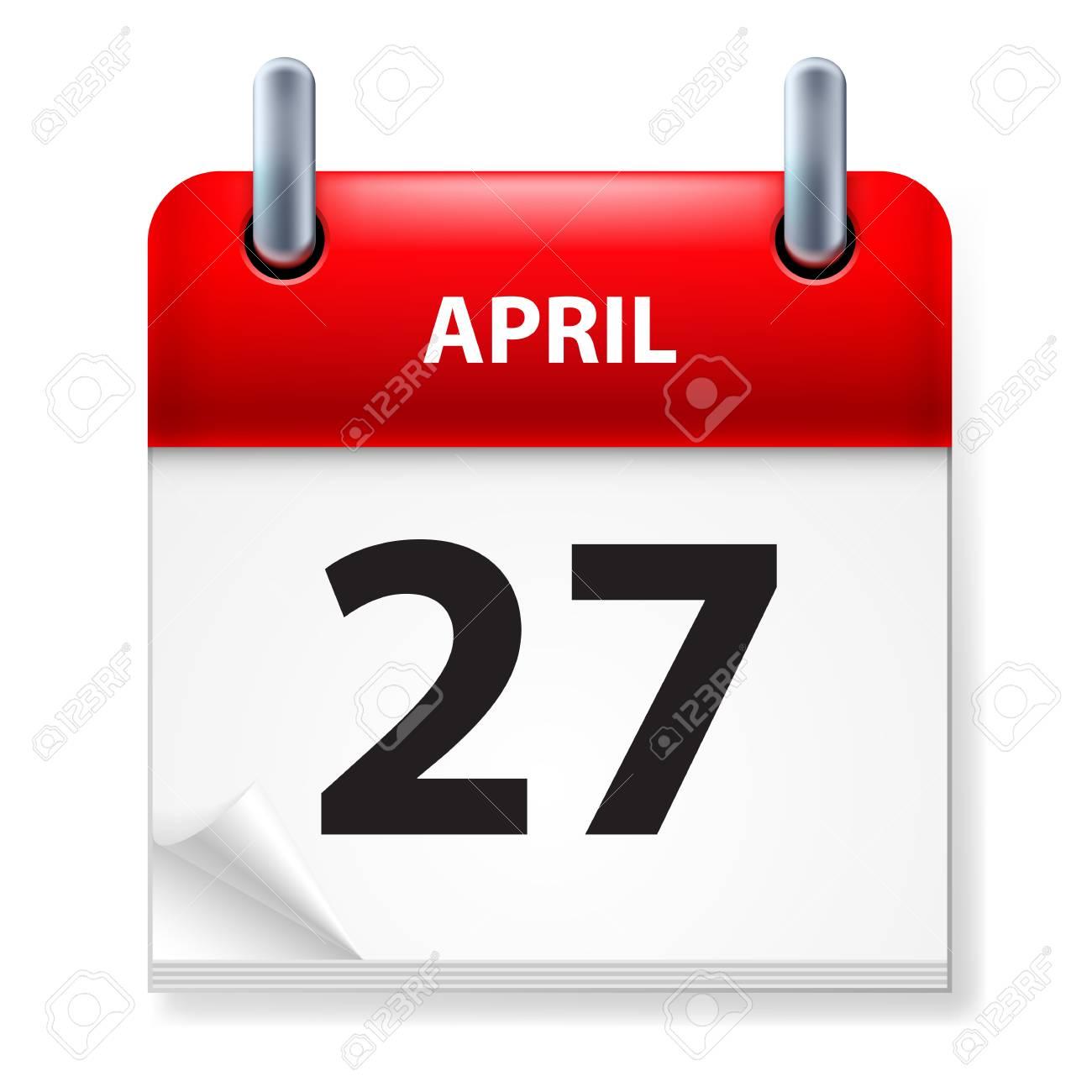 Twenty-seventh in April Calendar icon on white background Stock Vector - 14495496