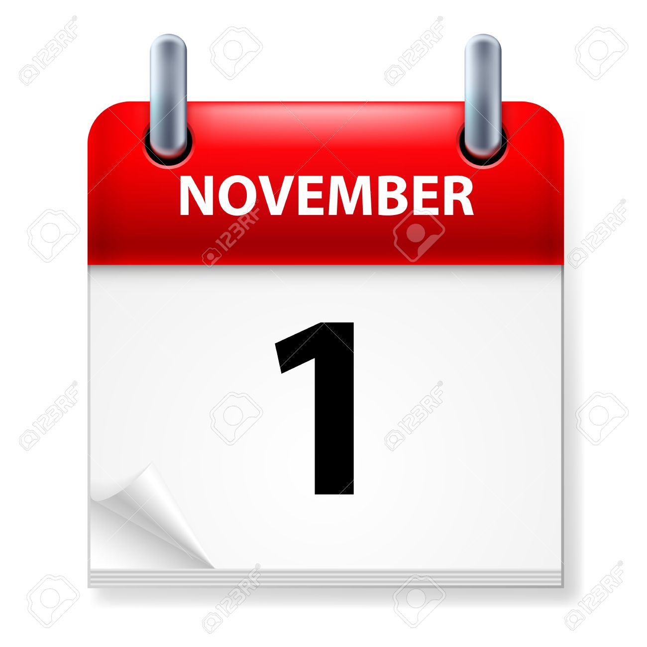 First  in November Calendar icon on white background Stock Vector - 14496285