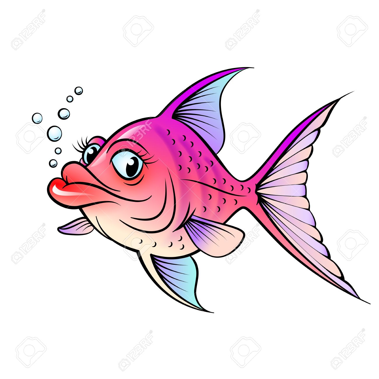 Cartoon fish. Illustration for design on white background Stock Vector - 14562066