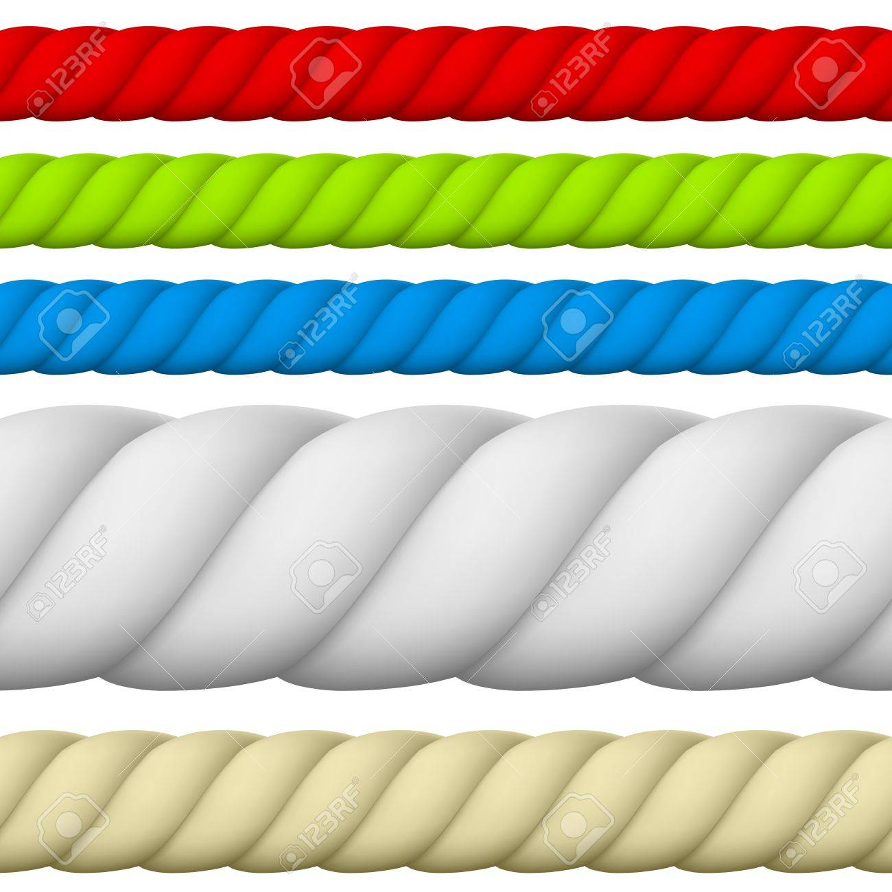 Illustration Of Different Size And Color Rope. Royalty Free ...