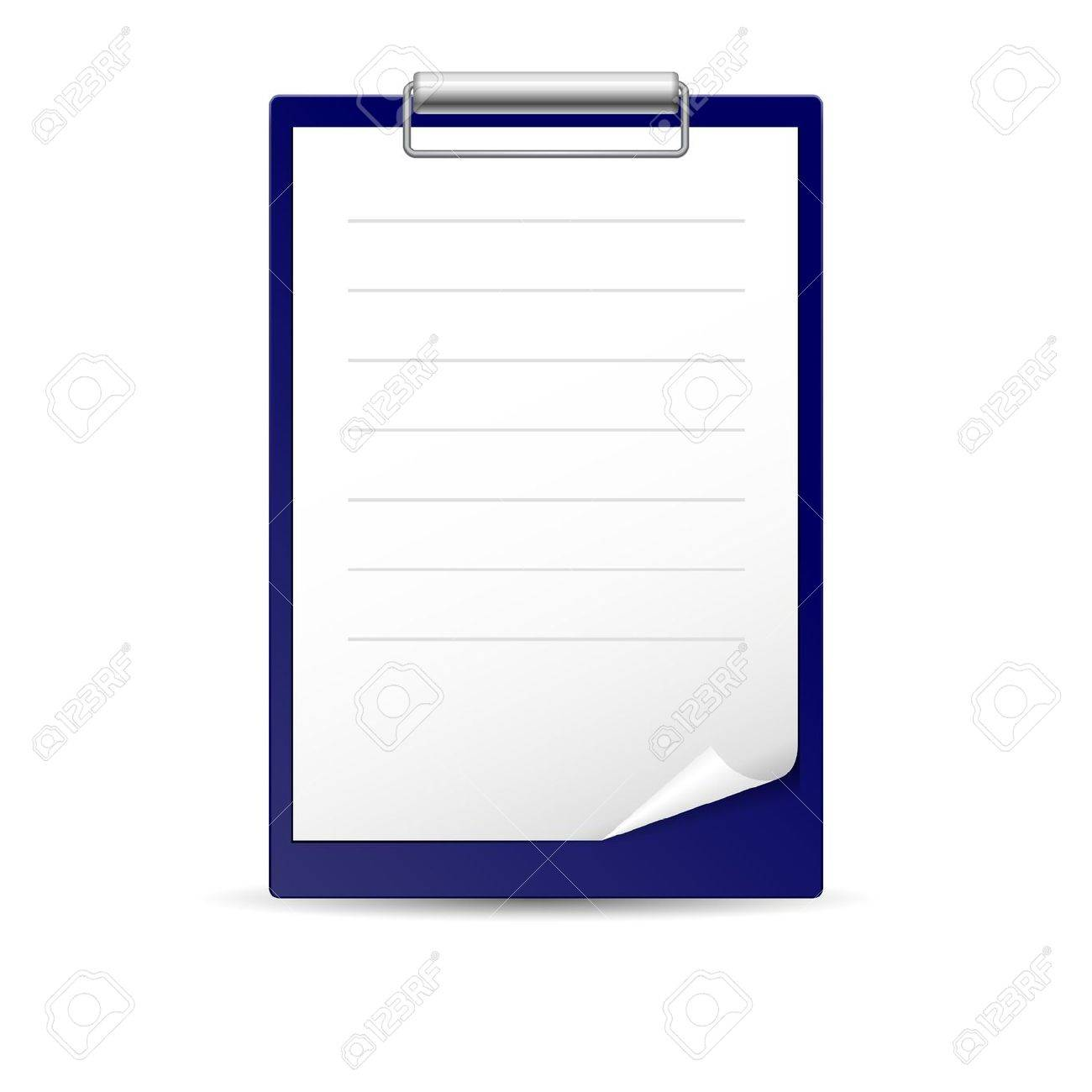 Icon for notes, paper for notes on the dark basis Stock Vector - 15019291