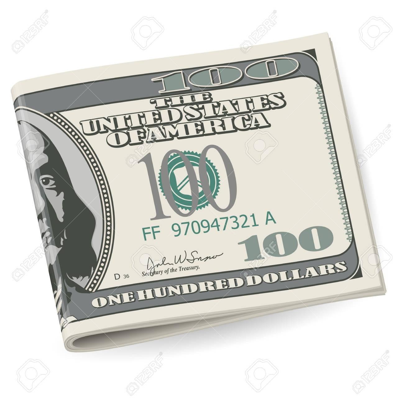 Folding dollars. Illustration on white background for design Stock Vector - 15495152