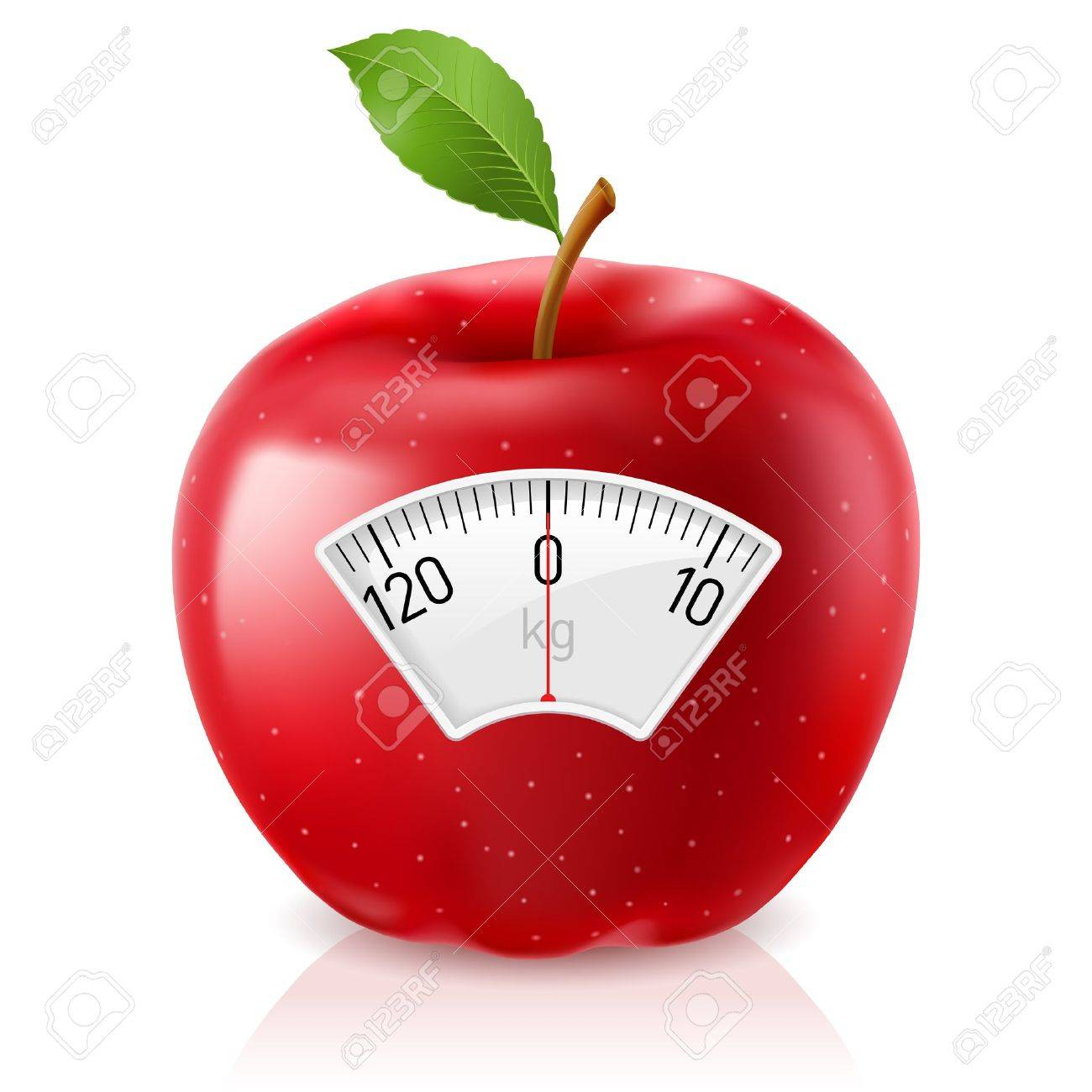 Red Apple With Scale for a Weighing Machine Stock Vector - 15237239