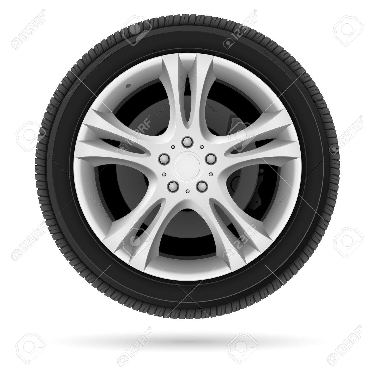 Car wheel. Illustration on white background for design - 15700345