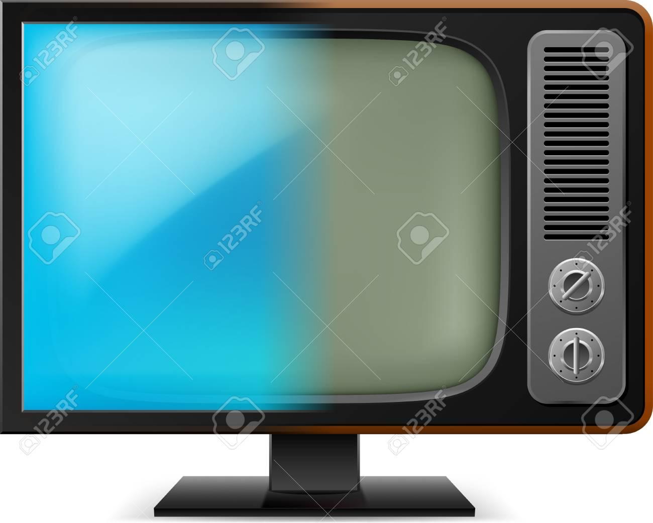 Old television. Illustration on white for design Stock Vector - 16955114