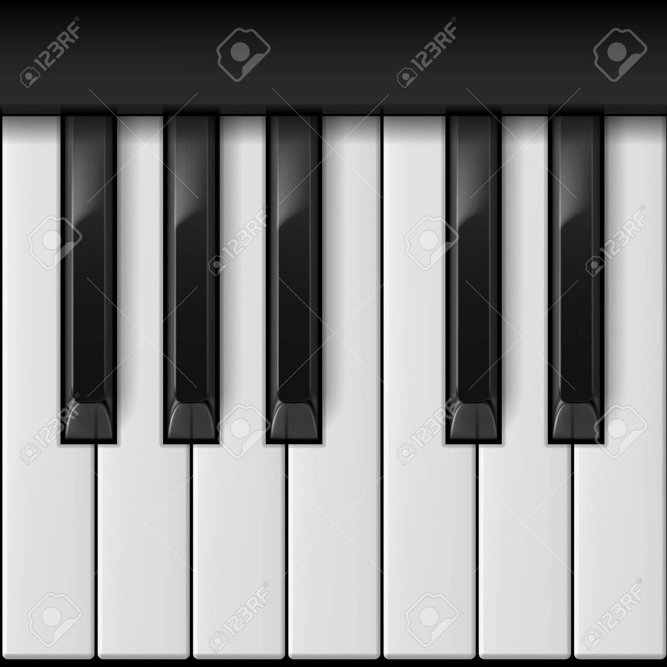 Piano keys. Cool illustration for creative design Stock Vector - 16955001
