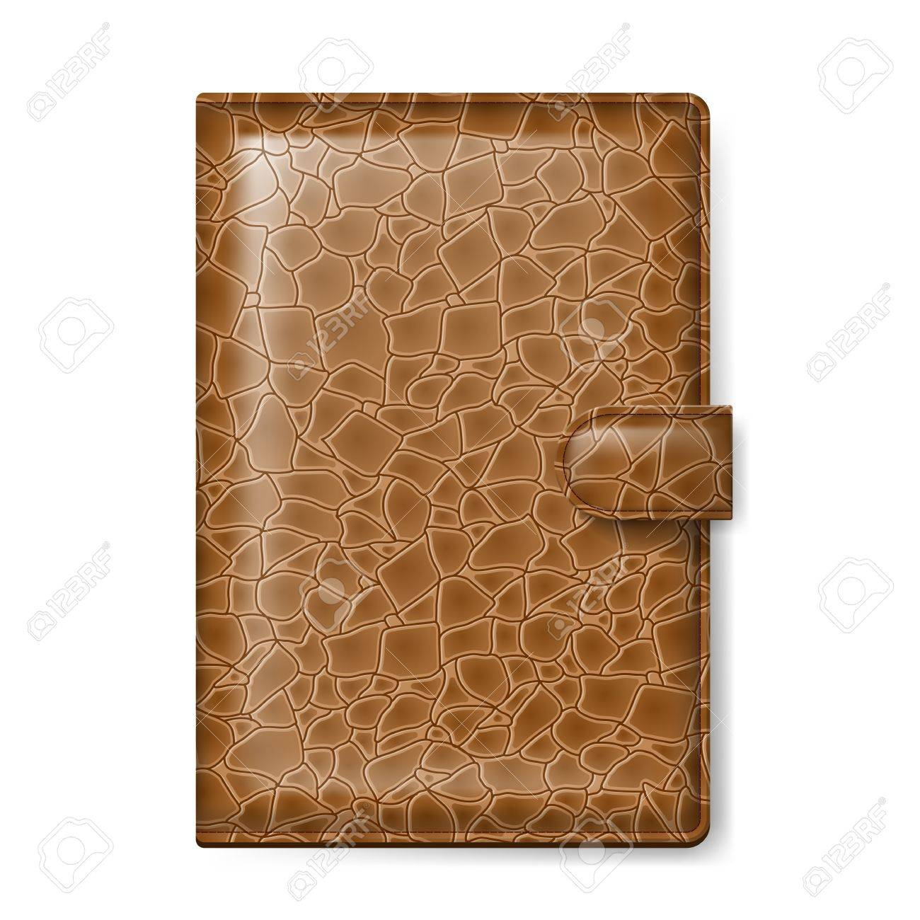 Brown leather wallet  Illustration on white background Stock Vector - 16961212