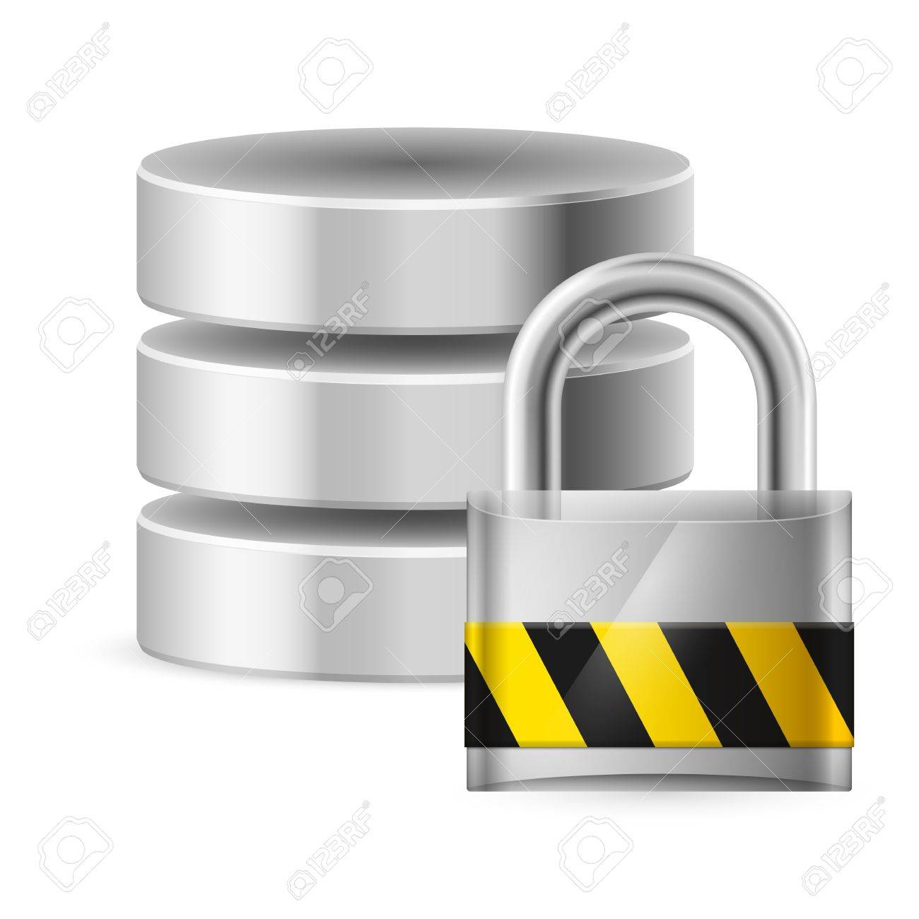 Database icon off. Illustration on white for design Stock Vector - 16976807