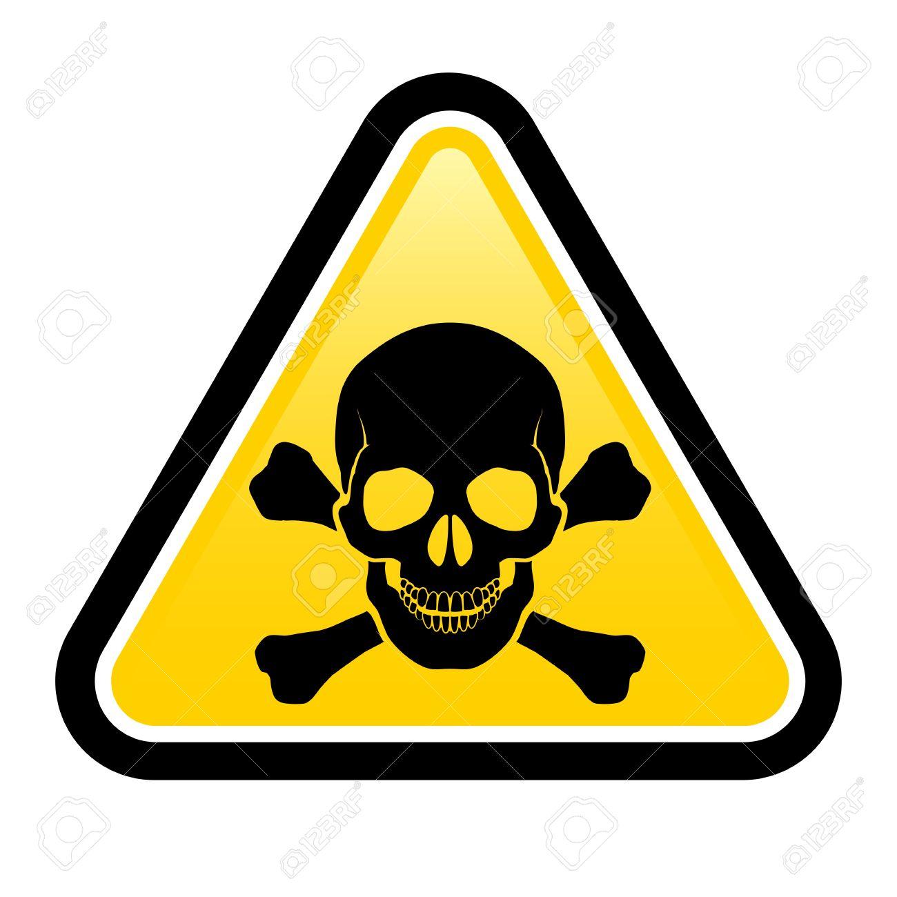 Skull danger signs.  Illustration on white background for design Stock Vector - 17473294