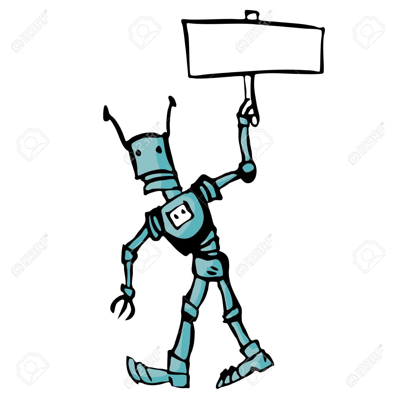 Cartoon robot. Illustration on white background for design Stock Vector - 17989271