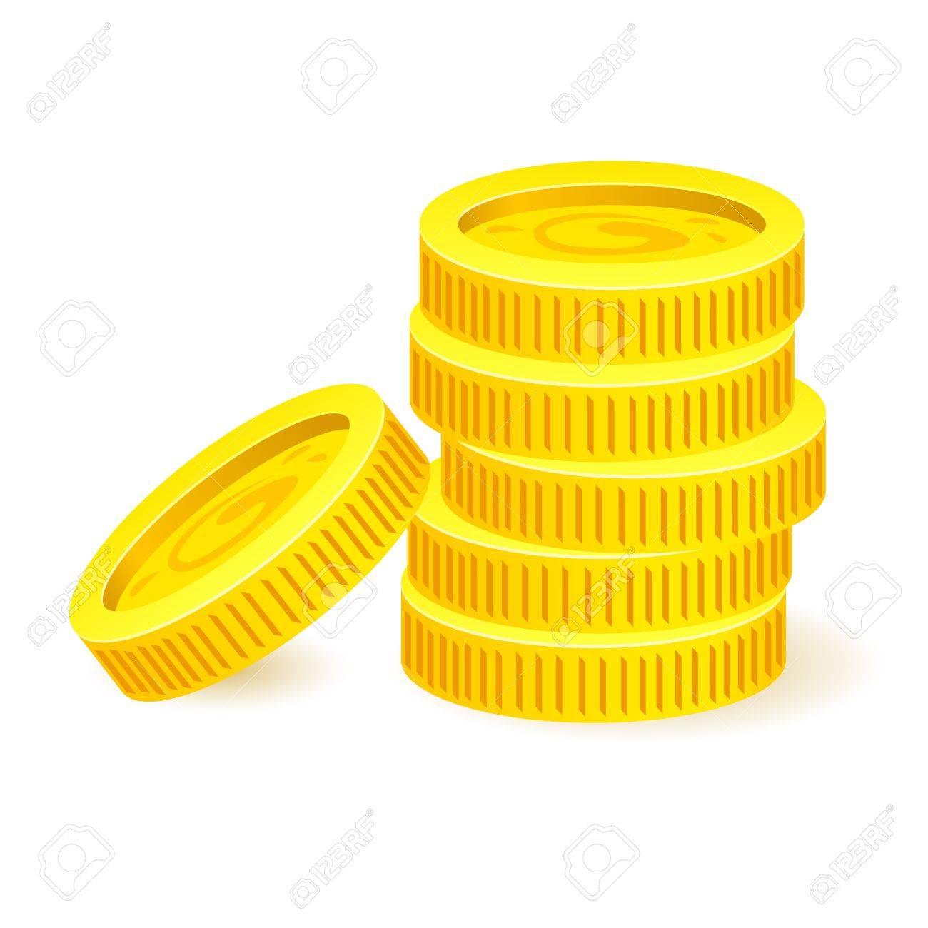Gold coins. Illustration on white background for design Stock Vector - 18865131