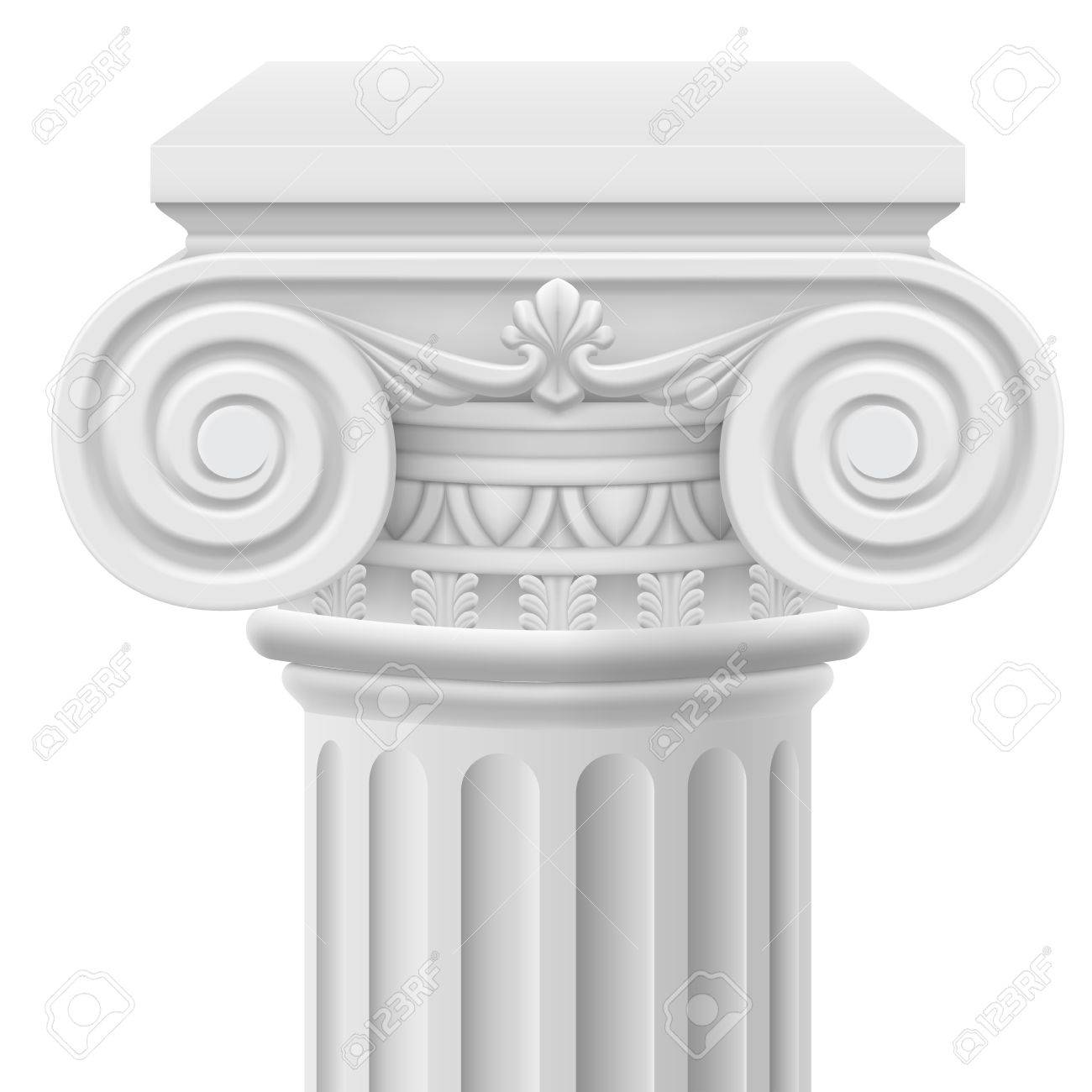 Classic ionic column. Illustration on white background Stock Vector - 21319755