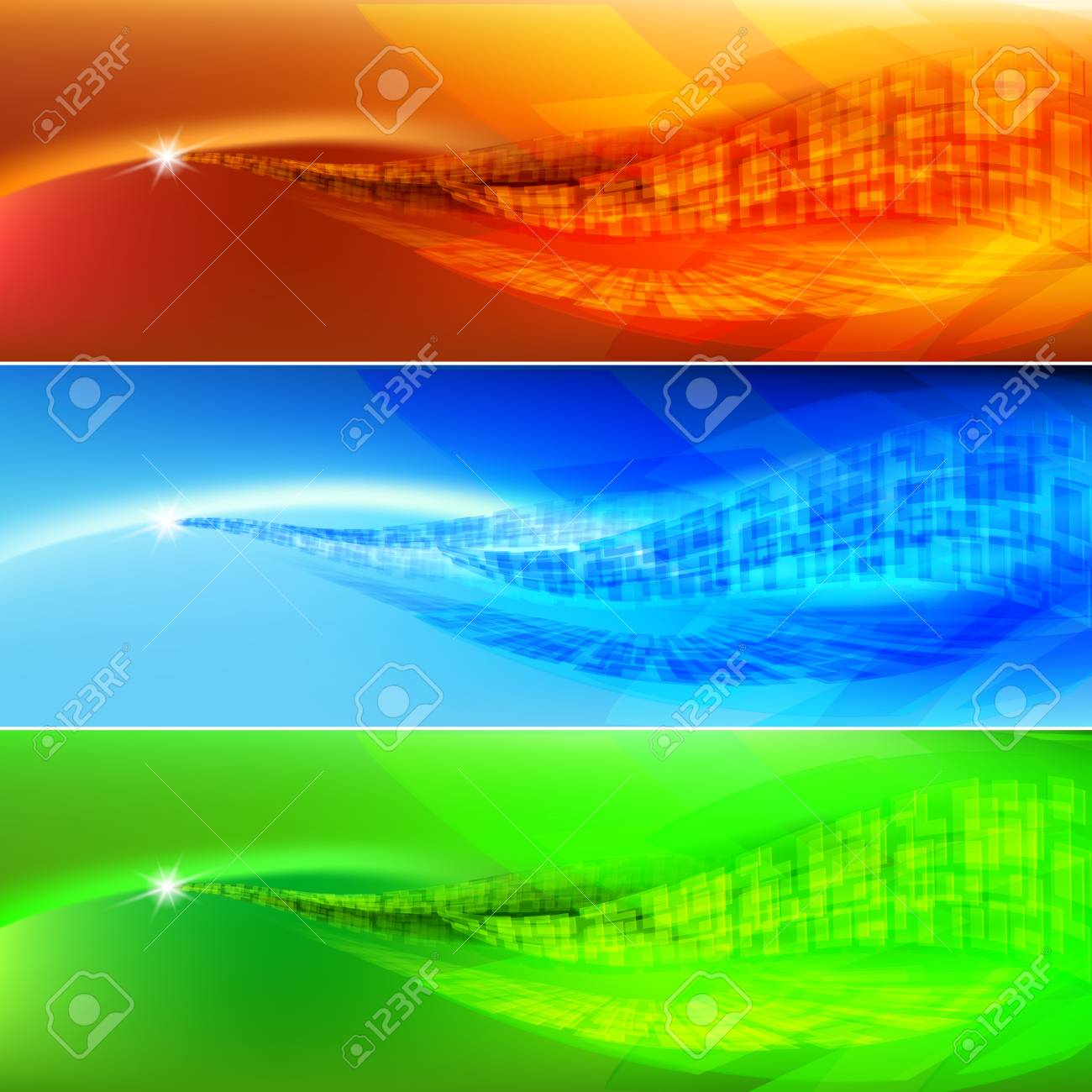 Colored wave abstract background. Illustration for design Stock Vector - 21398002