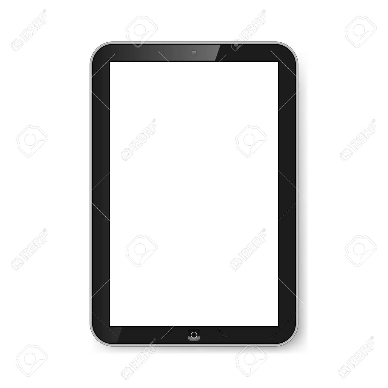 Touchscreen tablet with blank screen isolated on white. Modern technologies. Stock Vector - 21576016