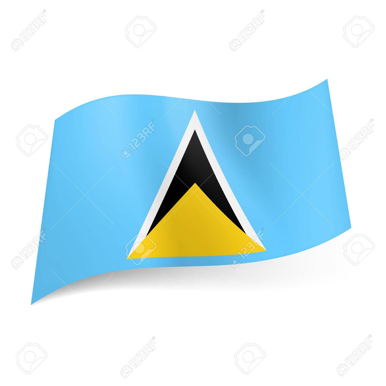 bandera con azul amarillo y negro