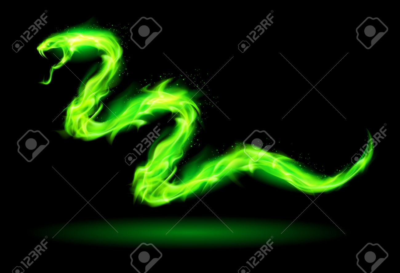 22910148-illustration-of-green-fire-snak