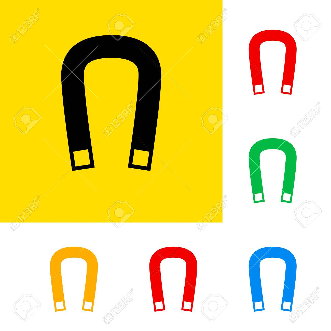 Warning sign of magnetic field with color variations. Stock Vector - 23835825