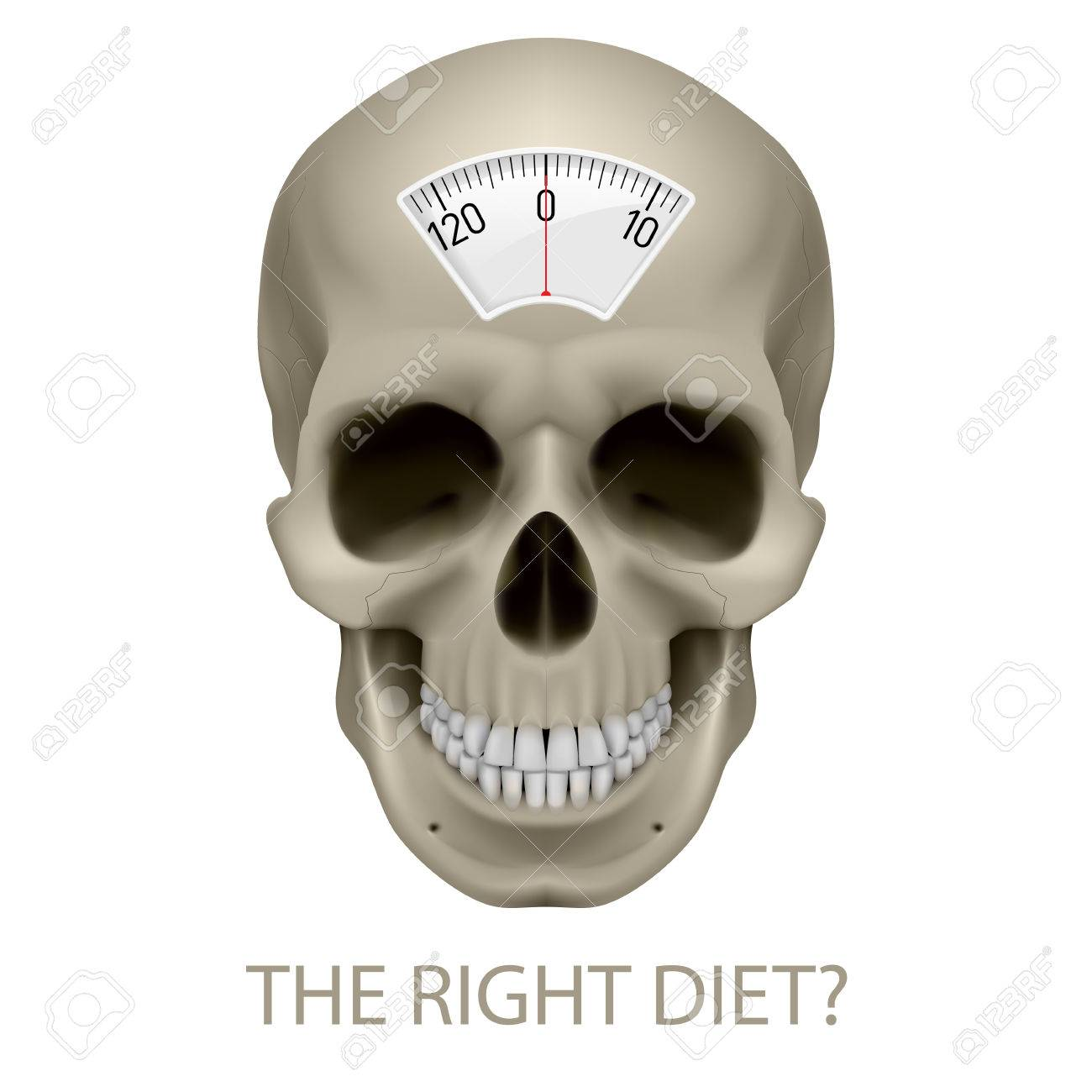 Skull with balance scale and text beneath as symbol of unhealthy skull with balance scale and text beneath as symbol of unhealthy diet stock vector buycottarizona Images