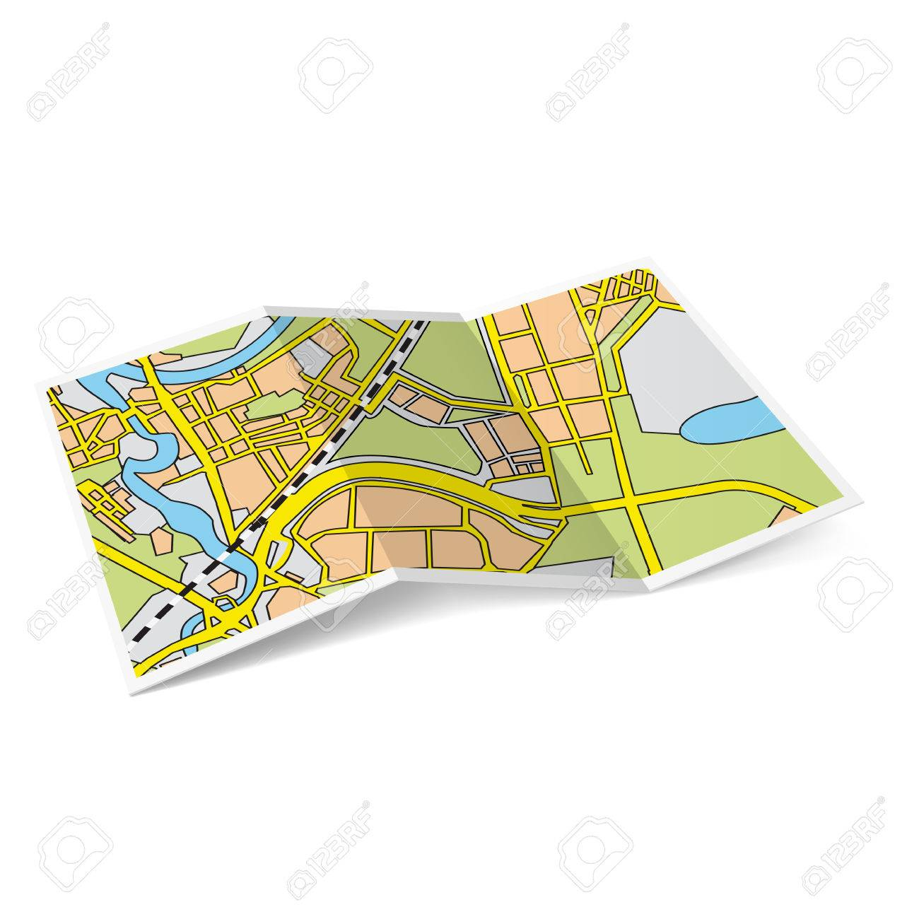 design of city map booklet on white background stock vector 25942926