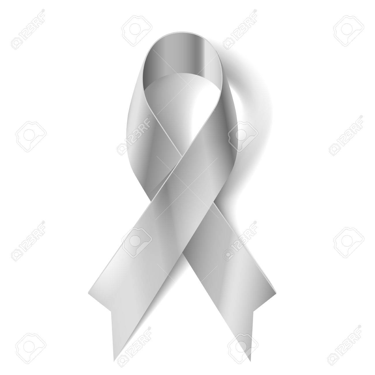 Ovarian cancer ribbon stock photos pictures royalty free silver awareness ribbon as symbol of parkinson disease ovarian cancer brain disorders and disabilities biocorpaavc