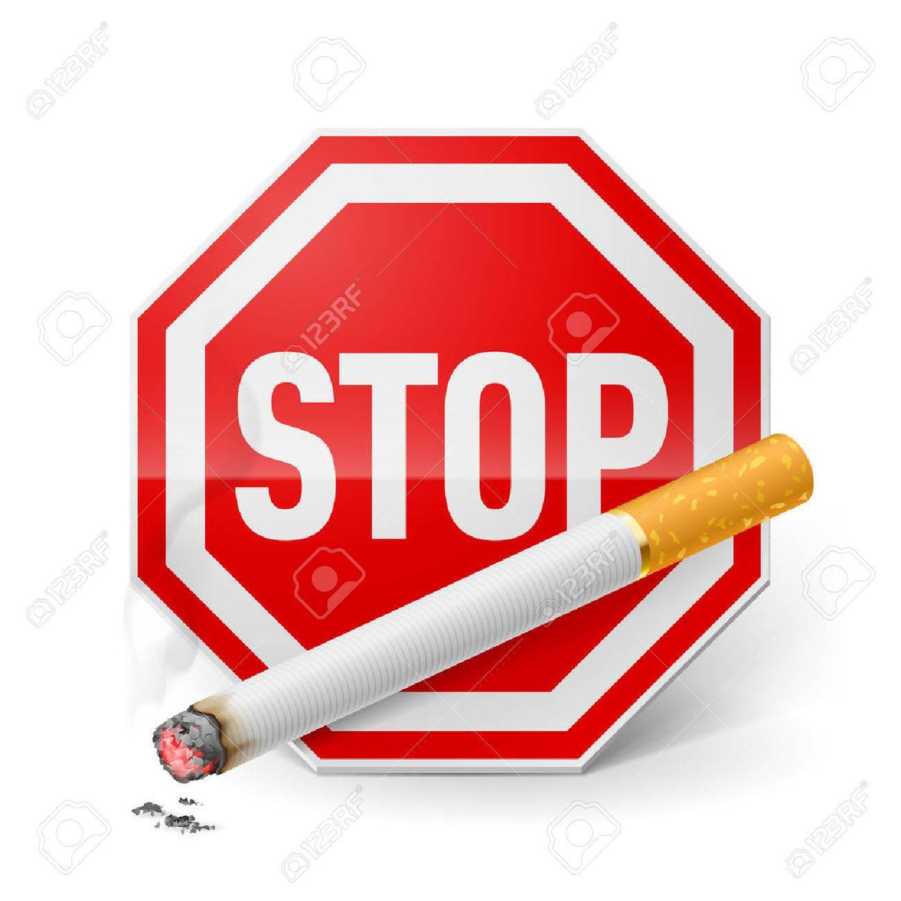 Panneau D Arr T Rouge Avec La Cigarette Que L Appel D Arr Ter De