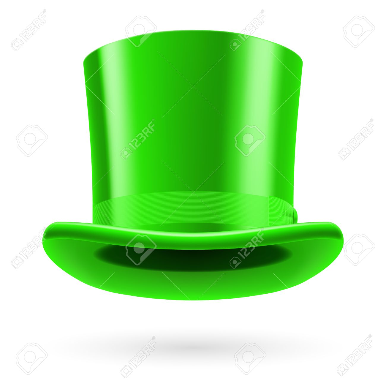Green Top Hat On The White Background. Royalty Free Cliparts ... fa07e9cc96c
