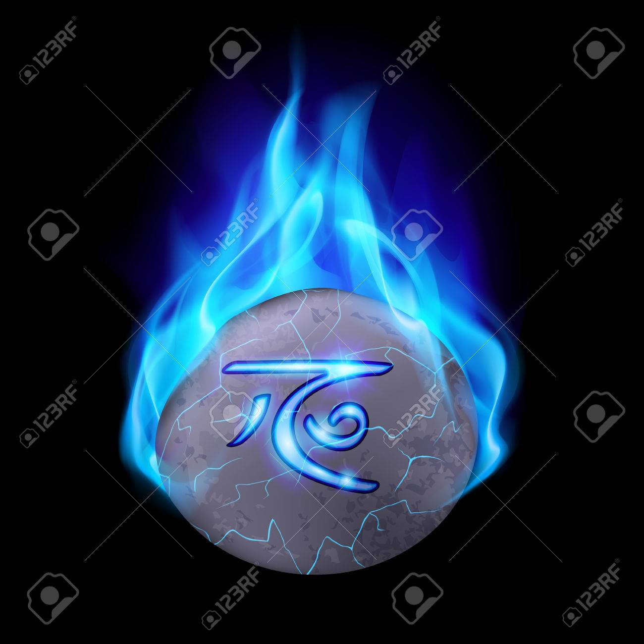Cracked and rough stone with magic rune in blue flame royalty free cracked and rough stone with magic rune in blue flame stock vector 33254090 buycottarizona Choice Image