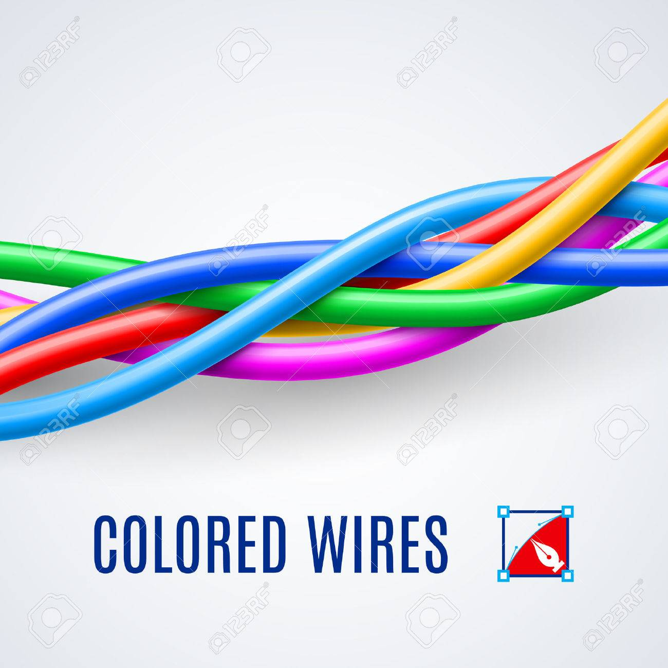 Interwoven Plastic Wires Or Cables In Different Colors Royalty Free ...