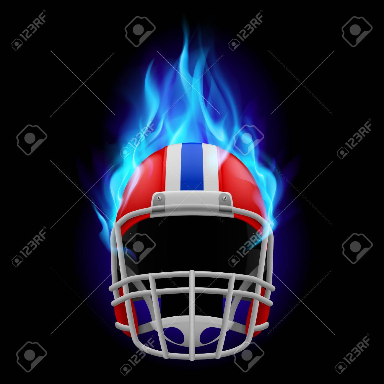 Red Football Burning Helmet On A Black Background Royalty Free Cliparts Vectors And Stock Illustration Image 35026789