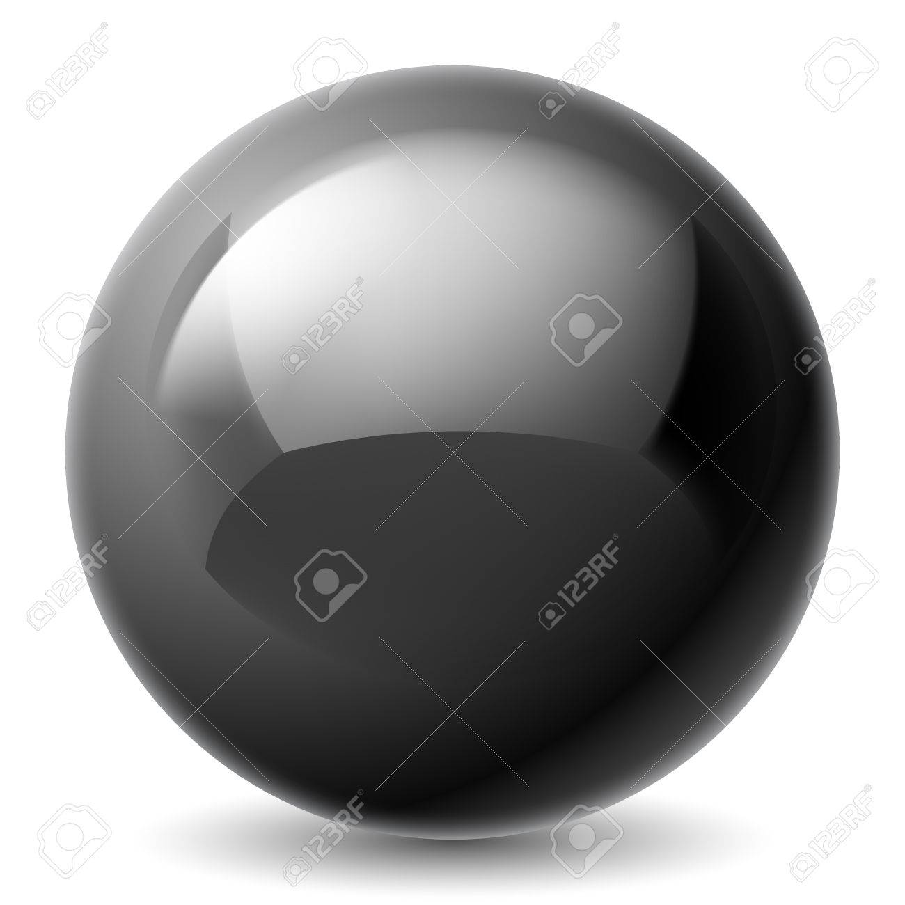 Black metallic sphere isolated on white background Stock Vector - 37433360