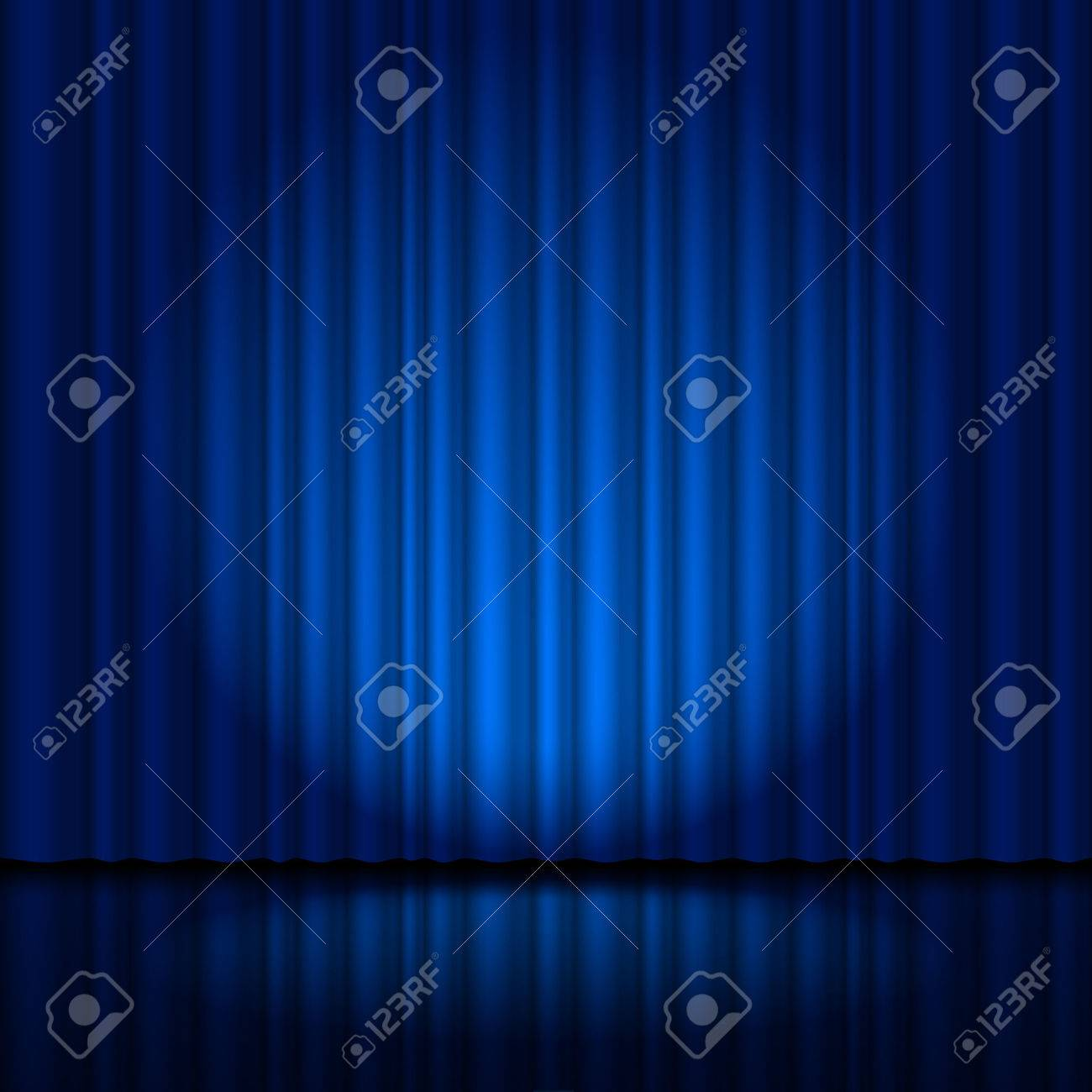Fragment dark blue stage curtain. Illustration for creative designer Stock Vector - 40180293
