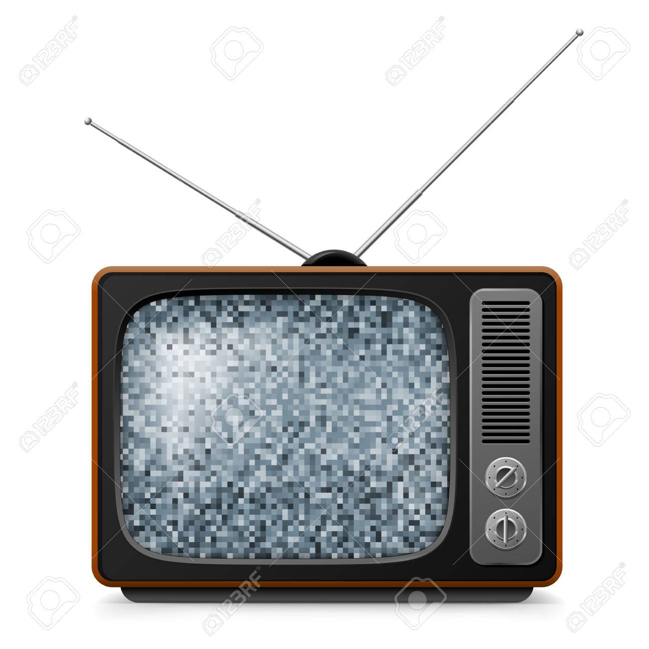 retro tv screen. broken retro tv with noise on screen. illustration white stock vector - 40875091 tv screen