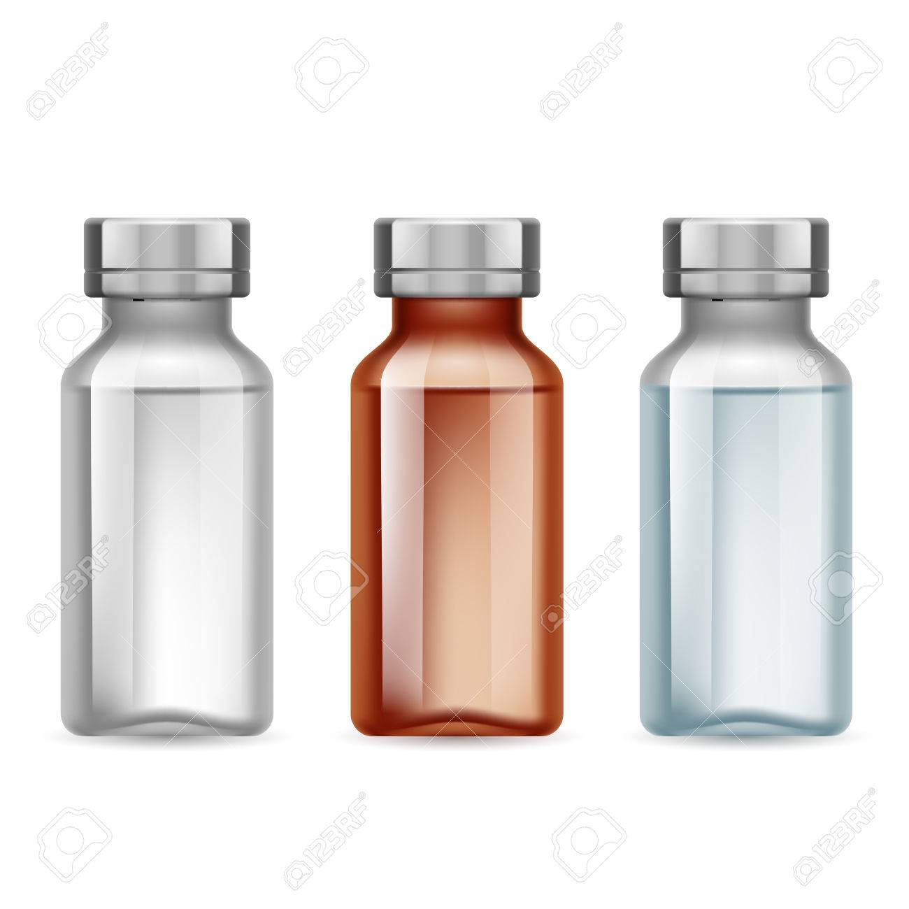 Set of small medical bottle dark and light Stock Vector - 45738201
