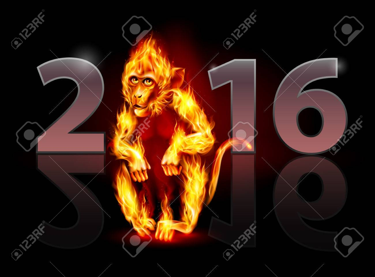 http://previews.123rf.com/images/dvarg/dvarg1509/dvarg150900071/45734038-Year-Of-The-Red-Fire-Monkey-Greeting-Card-on-black-background-for-design-Stock-Vector.jpg