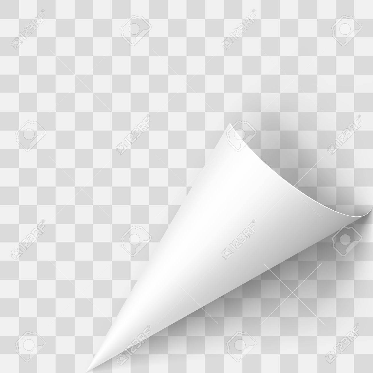 Illustration of Transperent Page Corner. Template Design for Creative Idea - 53108614