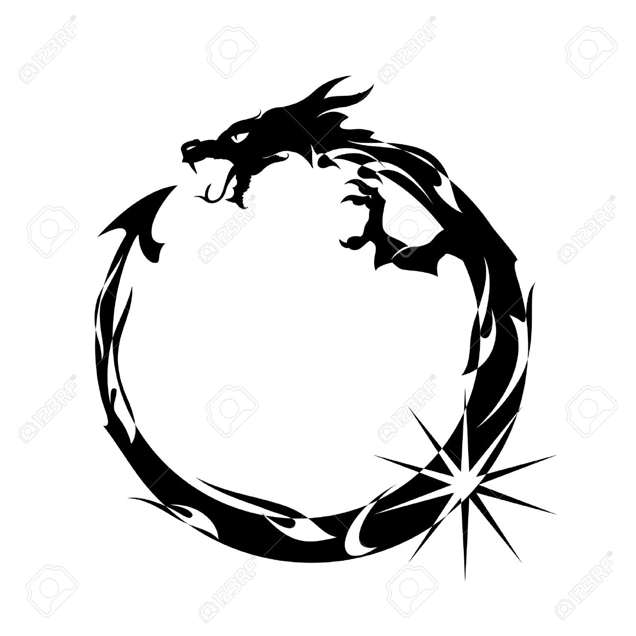 30211 serpent stock vector illustration and royalty free serpent ouroboros black dragon eating its own tail illustration buycottarizona