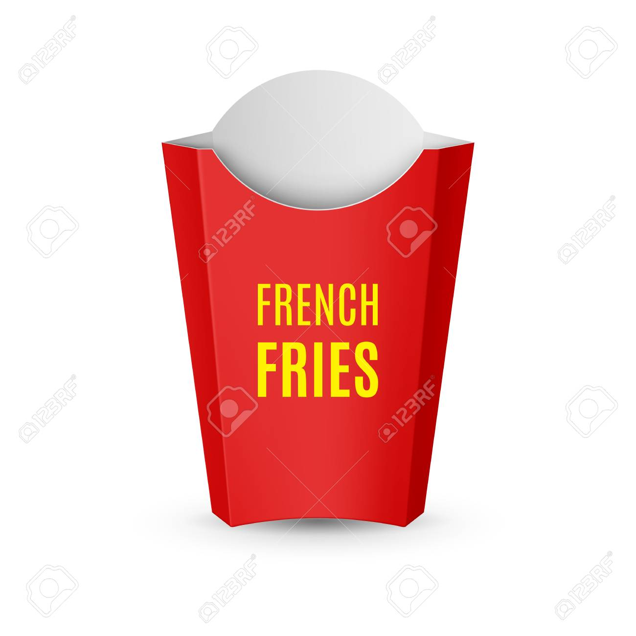 Fast Food Icon Empty Red Packaging For French Fries For Design