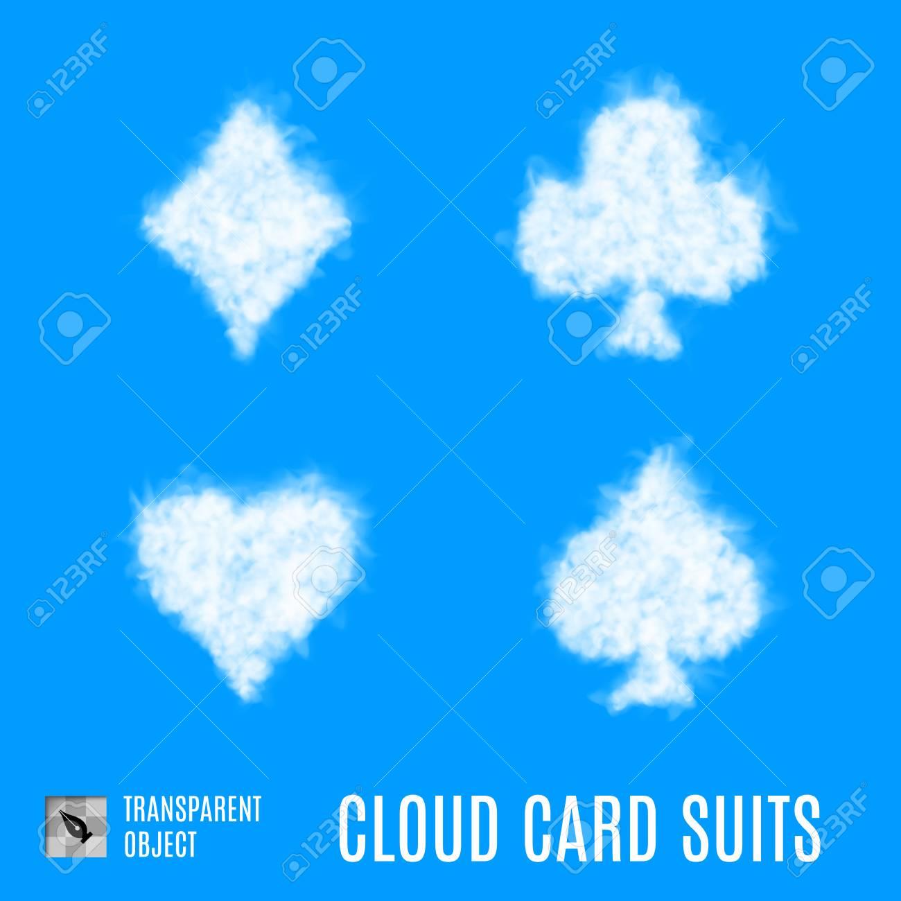 White cloud shape like set of playing card symbols royalty free white cloud shape like set of playing card symbols stock vector 78935960 biocorpaavc