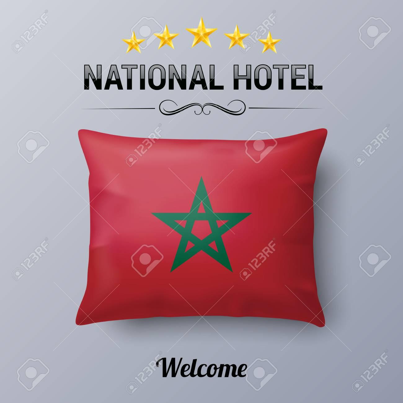Oreiller Réaliste Et Drapeau Du Maroc Comme Symbole National Hotel
