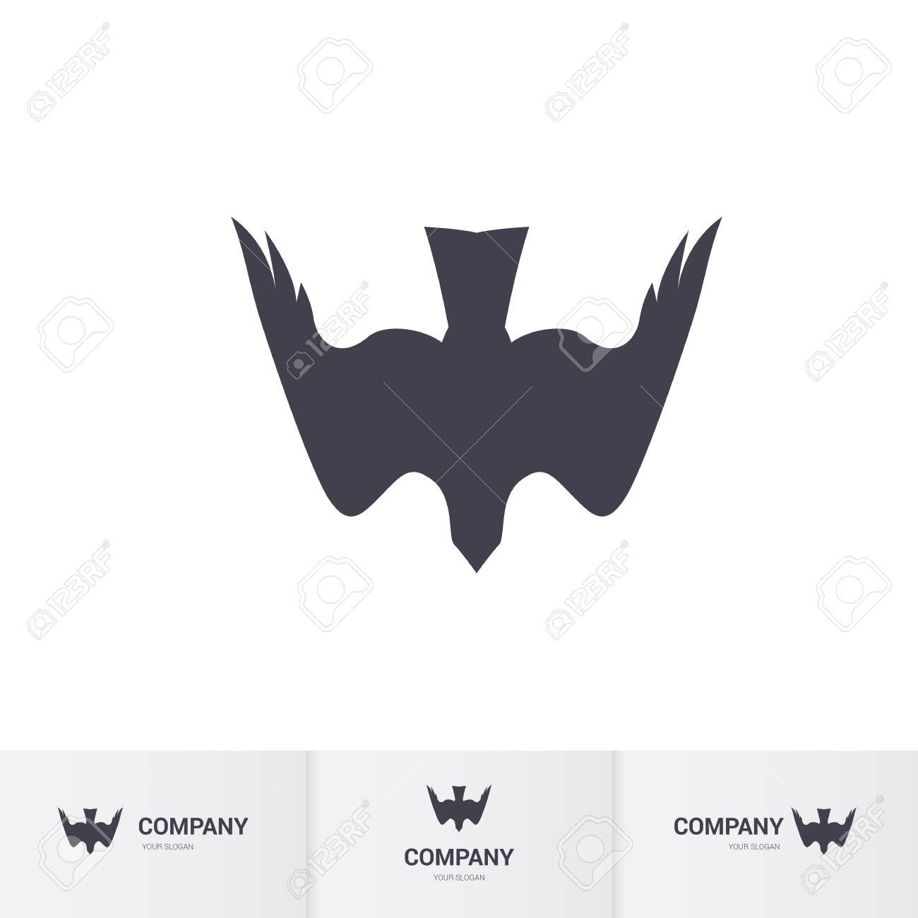 Stylized Bird Of Prey For Mascot Logo Template On White Background Royalty Free Cliparts Vectors And Stock Illustration Image 80787933