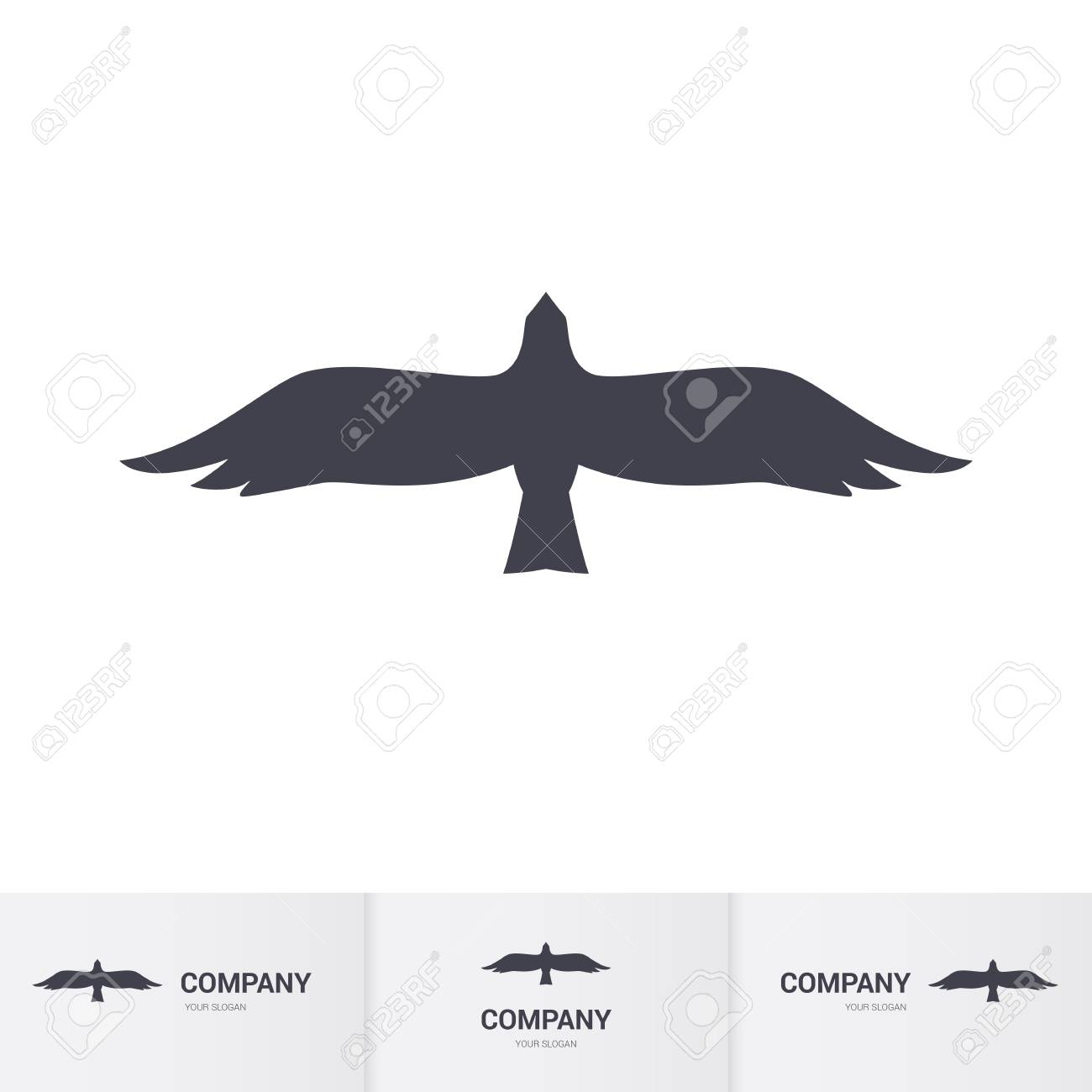 Simple Dark Bird Of Prey For Mascot Logo Template On White Royalty Free Cliparts Vectors And Stock Illustration Image 80787947