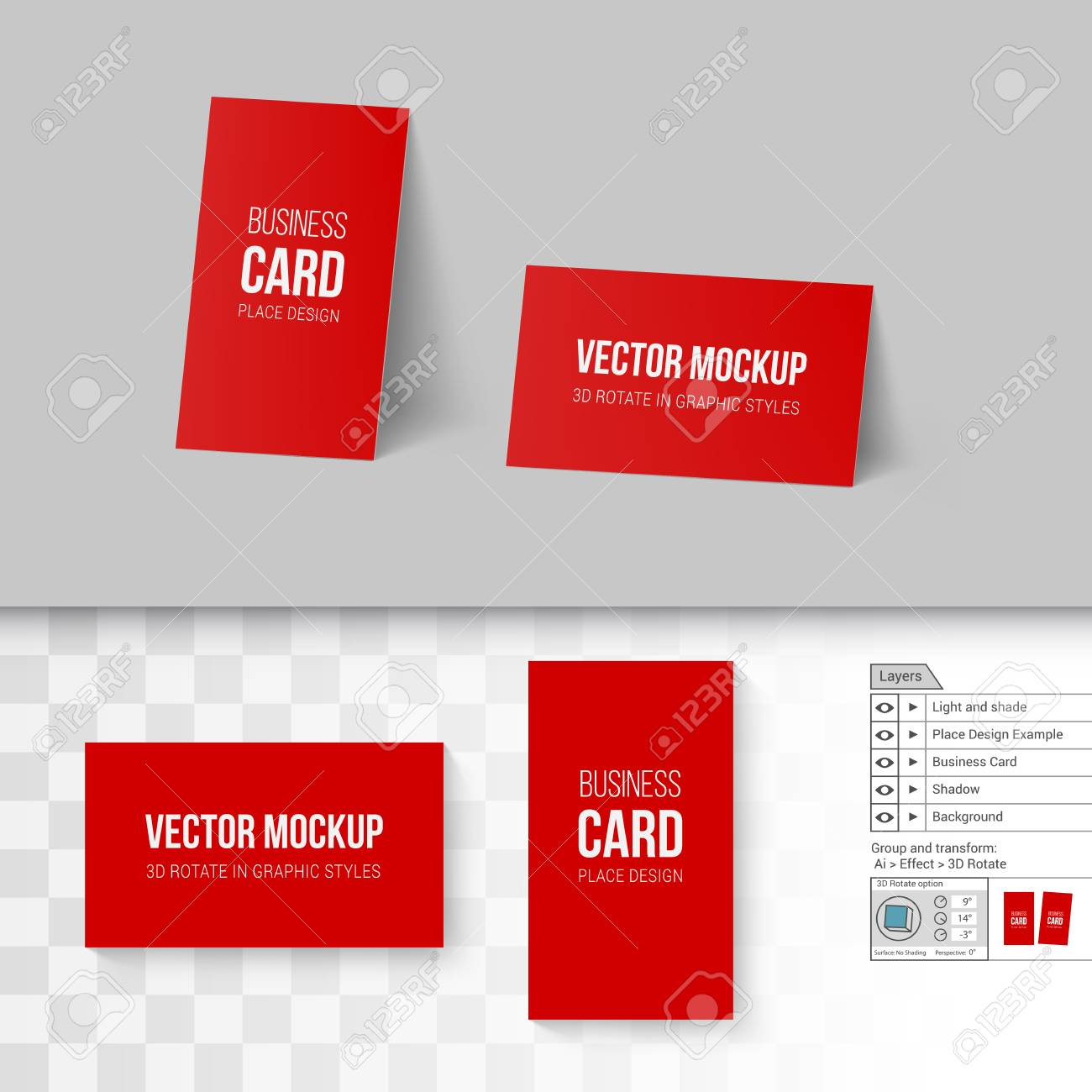 Red business cards template corporate identity branding mock red business cards template corporate identity branding mock up with 3d rotate options on colourmoves