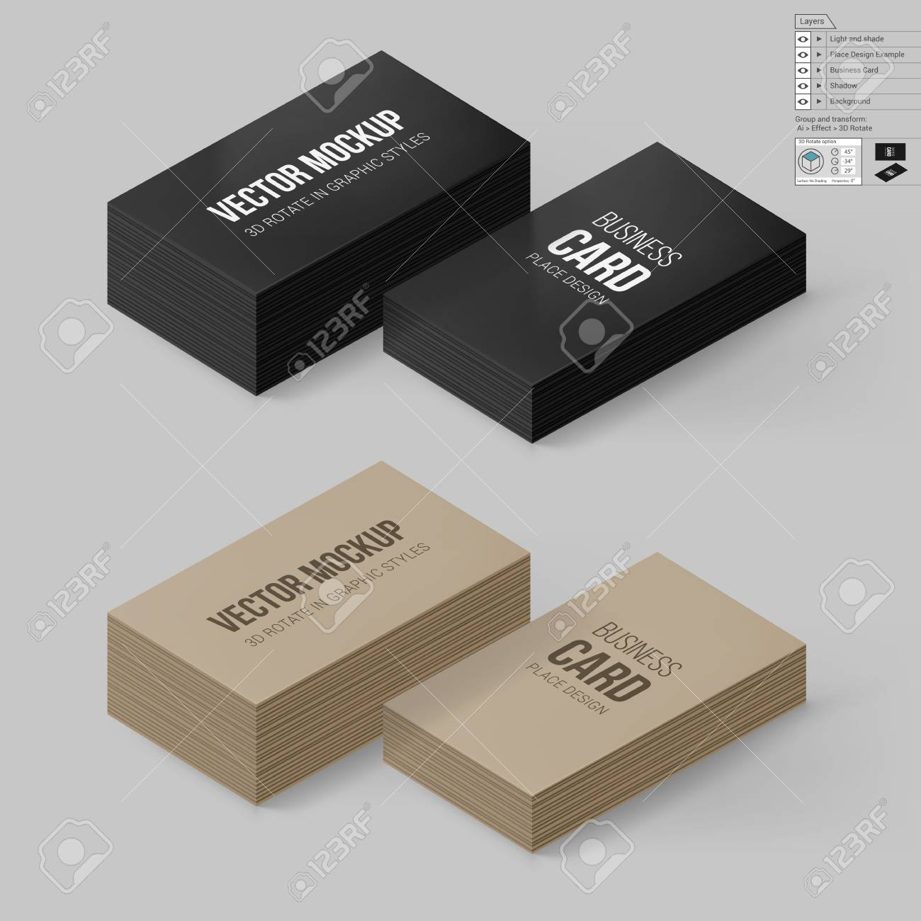 Business cards template in black and brown colors corporate business cards template in black and brown colors corporate identity branding mock up with flashek