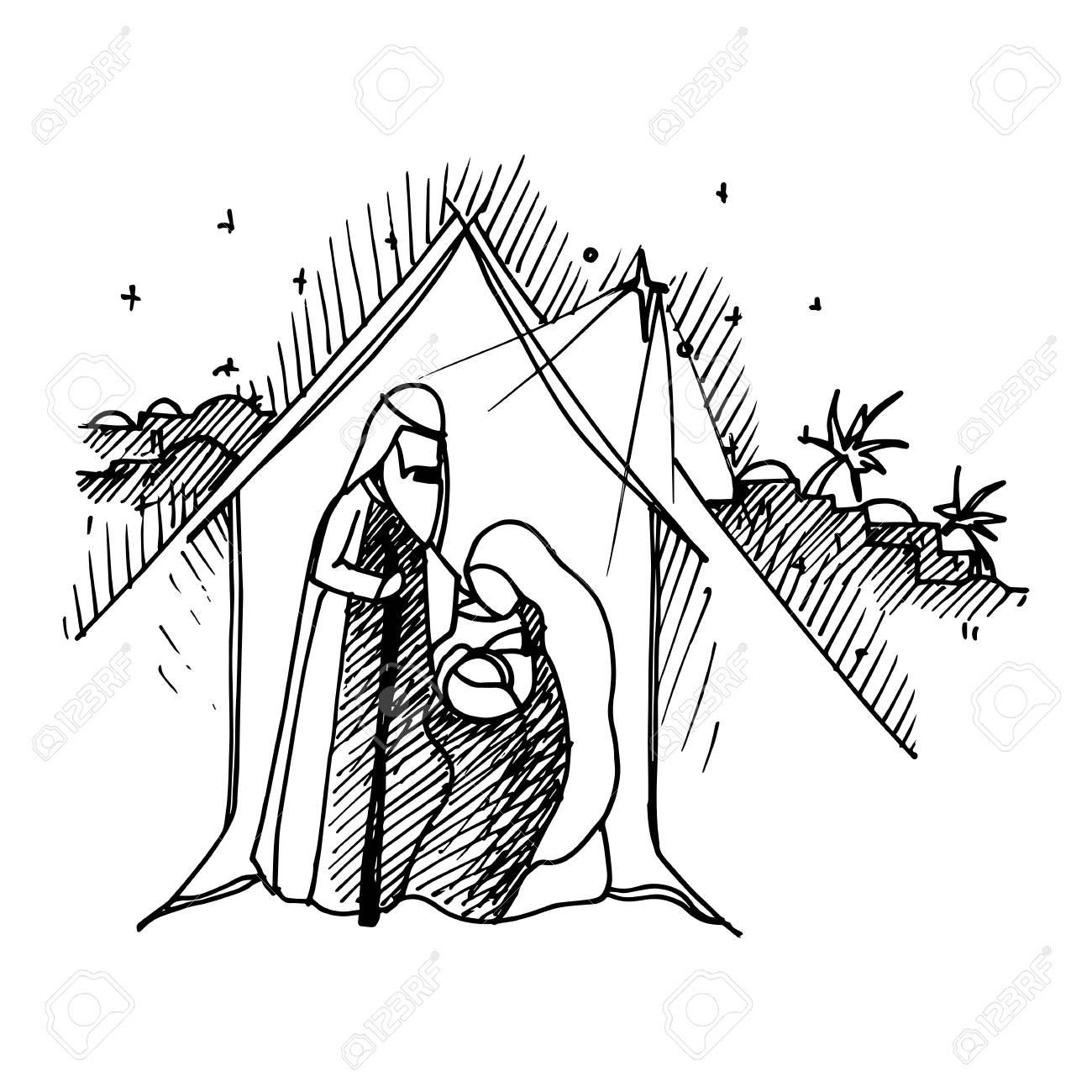 Ilustración De Color Negro Mono Para Feliz Navidad Y Feliz Año Nuevo ...