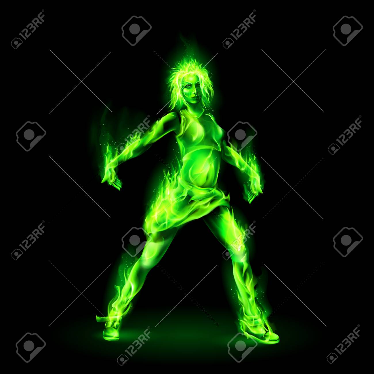 105292208-dancing-girl-made-of-green-fir