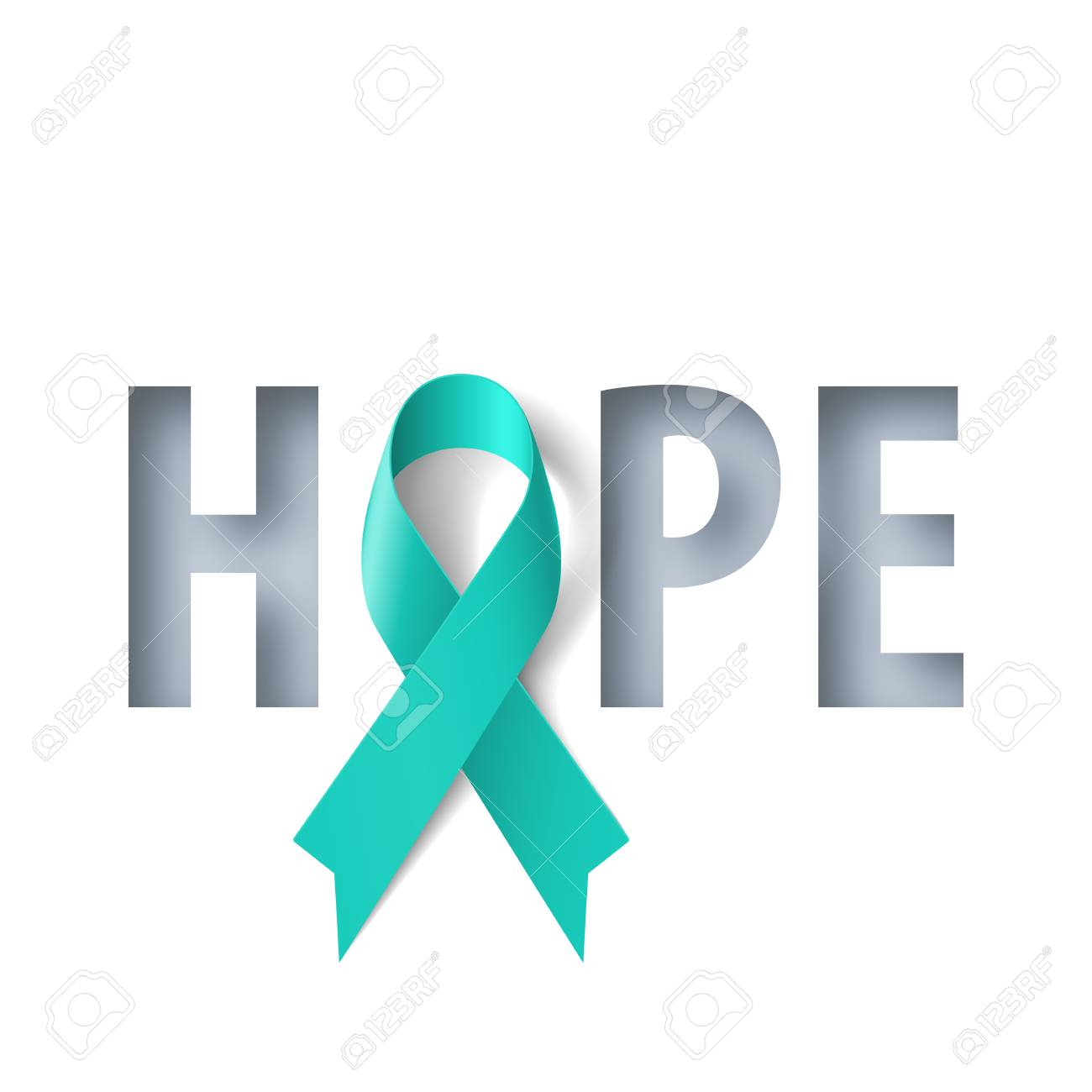 Banner With Hope Lettering And Symbol Of Ovarian Cancer Awareness Royalty Free Cliparts Vectors And Stock Illustration Image 128502459