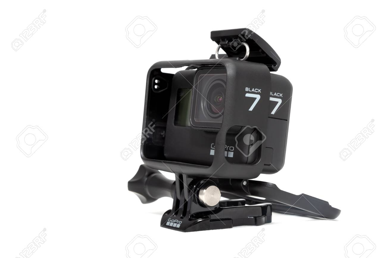 Moscow  November 2018  GoPro HERO 7 Black product in plastic